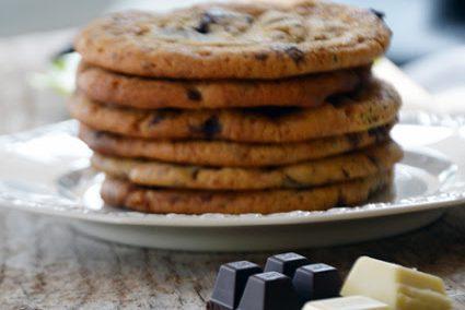 Zitronencookies mit Schokolade