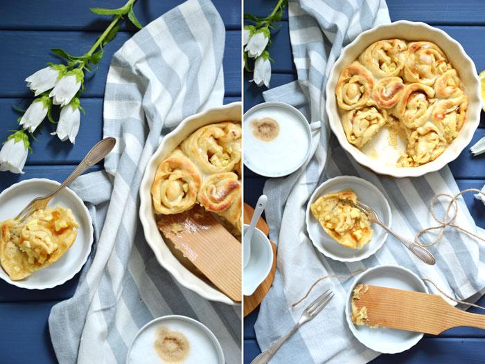 Apfel-Orangen-Zimtschnecken: Köstlich süß und herb und frisch aus dem Ofen