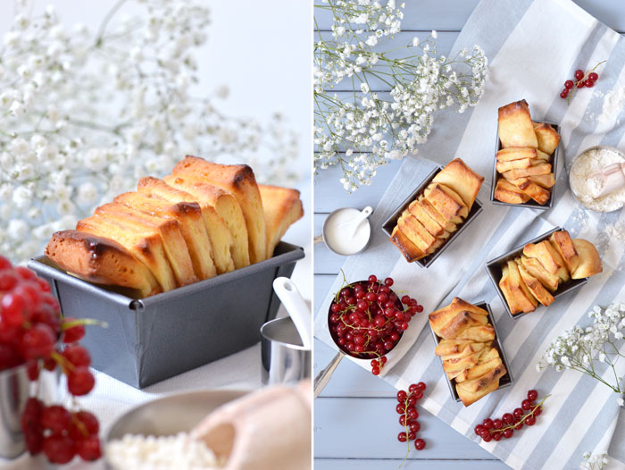 Mini-Pull-Apart-Bread mit Johannisbeer-Marmelade