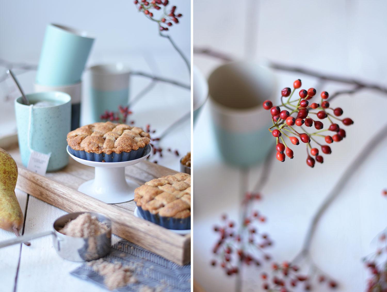 Backen im Herbst: Es gibt Birnen Tartelettes mit Nüssen