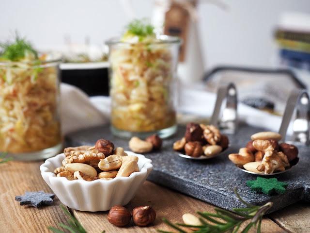 Mein Weihnachtsmenü 2016: Fenchelsalat mit Ofencroutons, Rote Beete Risotto mit Petersilienpesto und Spekulatius-Orangen-Trifl