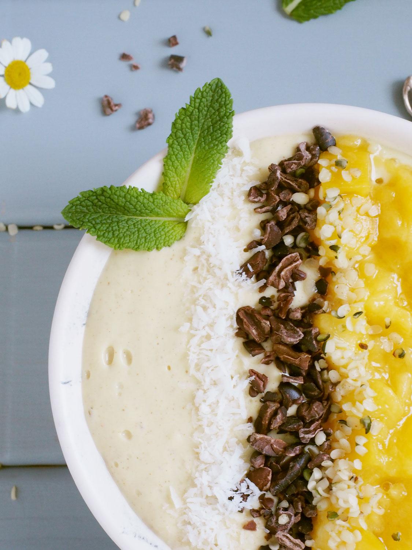 Veganes Mango Chia Porridge