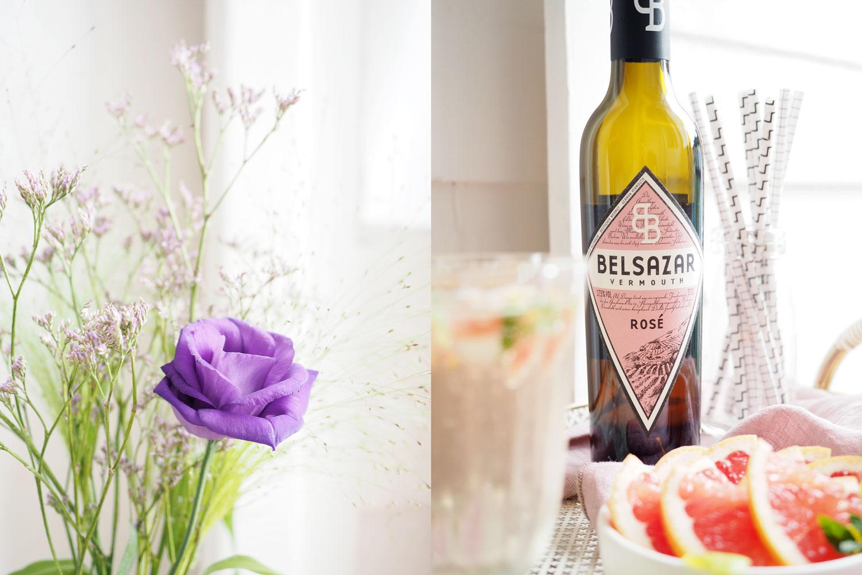 Belsazar Rosé & Tonic mit Grapefruit