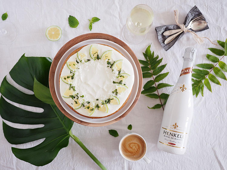 Kokos Limetten Kuchen & Schokofrüchte