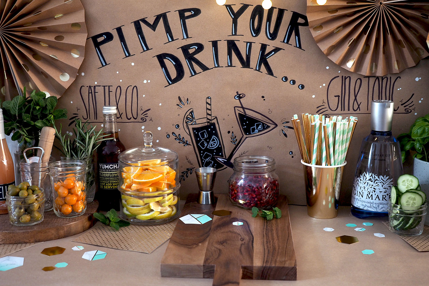 Pimp your Drink! Eine Gin & Tonic Bar für eure Silvester-Party 2017