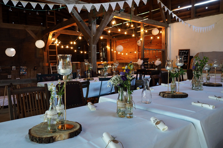 Eine Hochzeit in der Scheune 1/2 - Fünf Tipps für die Hochzeitsdekoration & kleine liebevolle Details