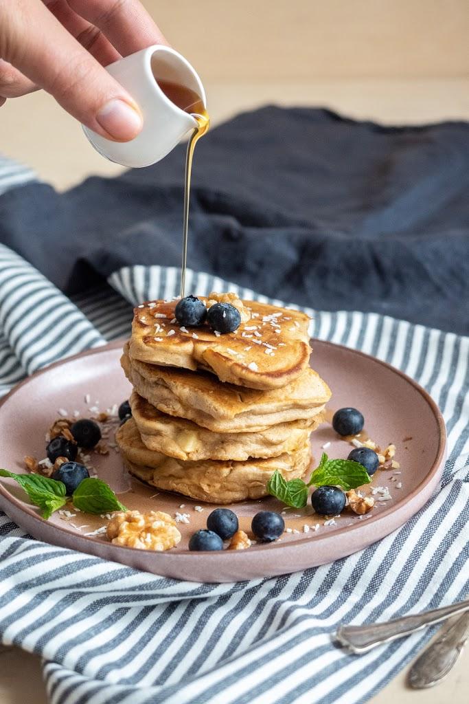 Fluffige Apfel-Pancakes