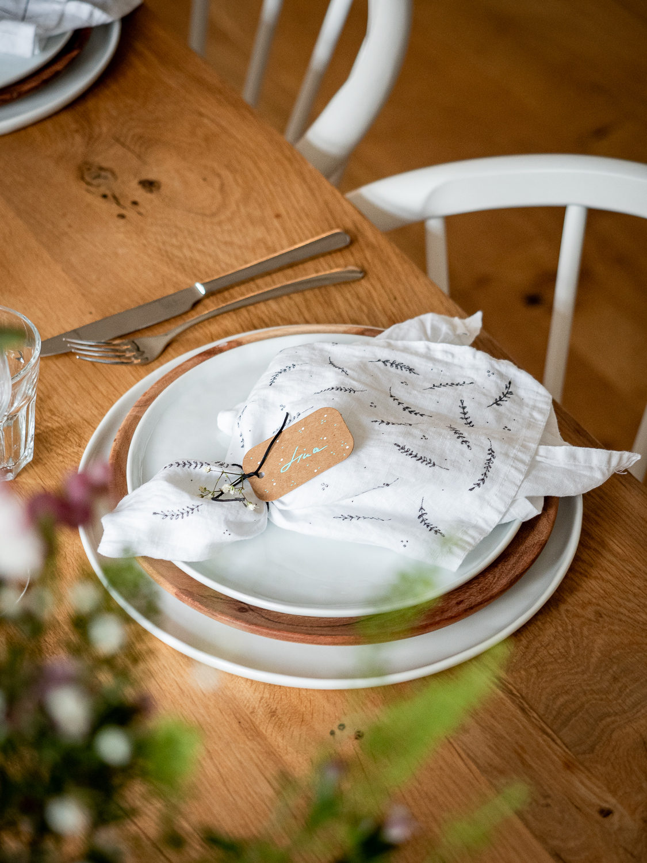 Selbstgestaltete Servietten als Gastgeschenk