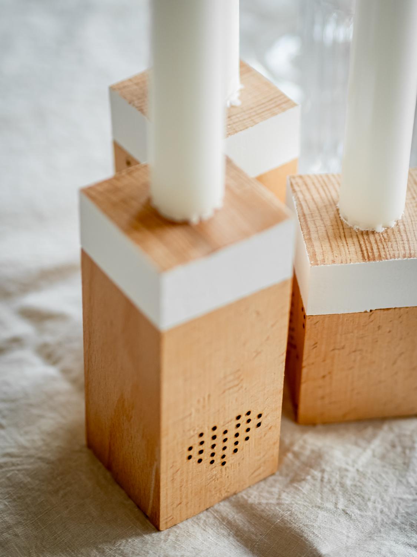 DIY Kerzenständer im Scandi Stil