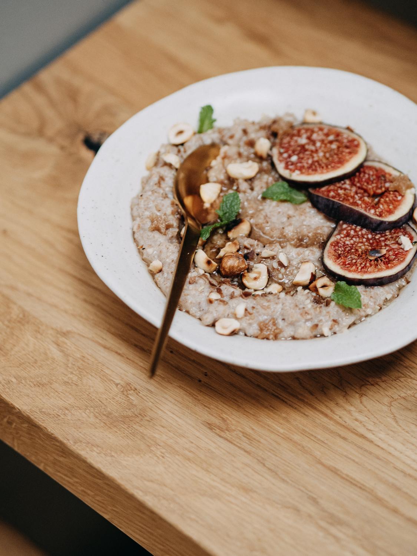 weihnachtliches zimtstern porridge