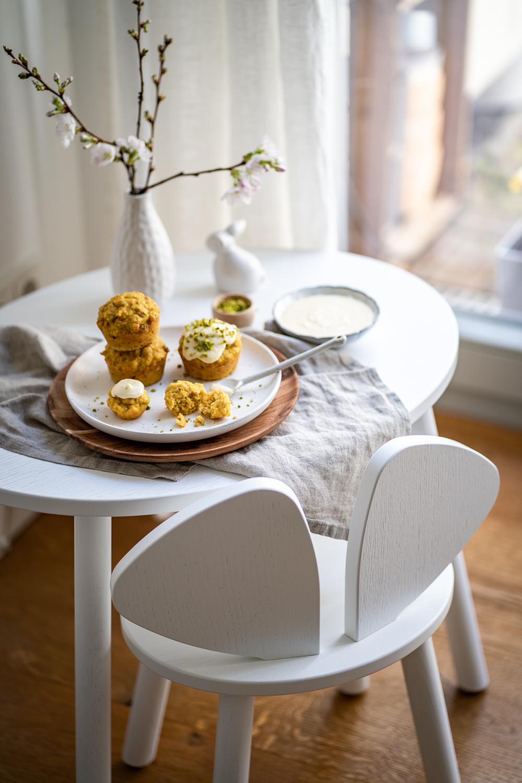 carrot cake muffins für familien und frühblüher