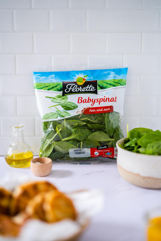 babyspinat mit aubergine für familien