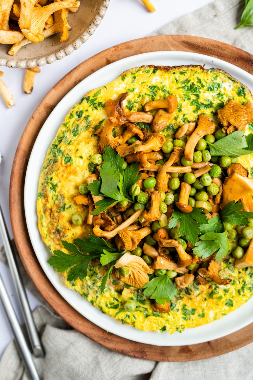familien-rezept für omelette mit pfifferlingen